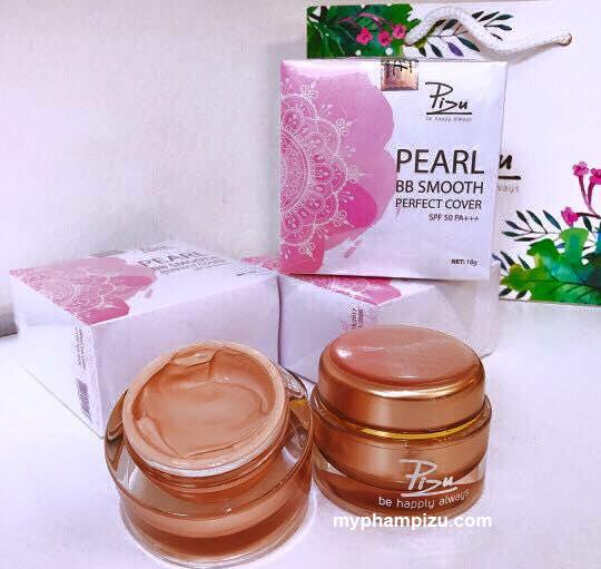 Phấn nước tươi thực vật Pizu - Pearl BB Smooth Perfect Cover